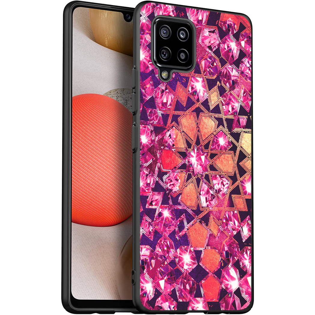 iMoshion Design hoesje Samsung Galaxy A42 - Grafisch - Roze Bling