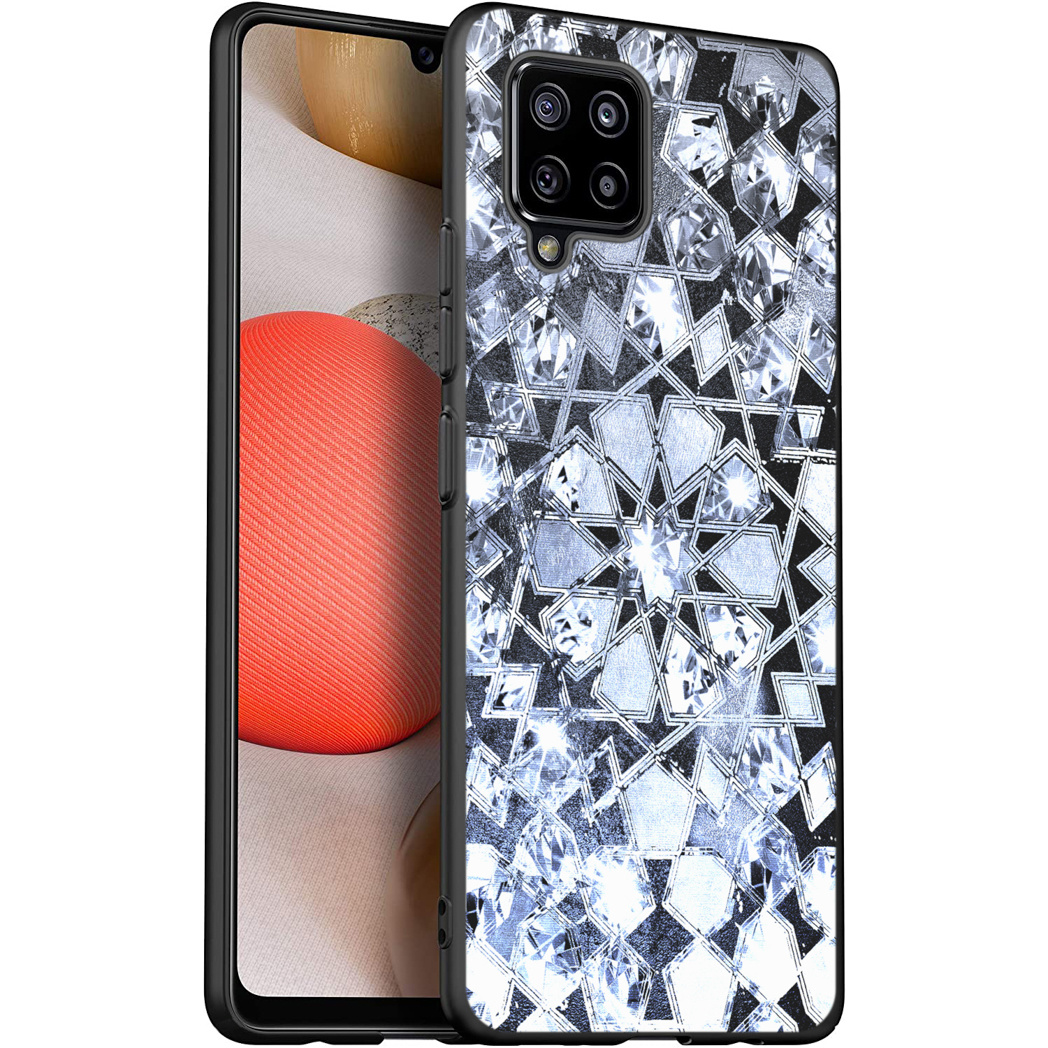 iMoshion Design hoesje Samsung Galaxy A42 - Grafisch - Zilver Bling