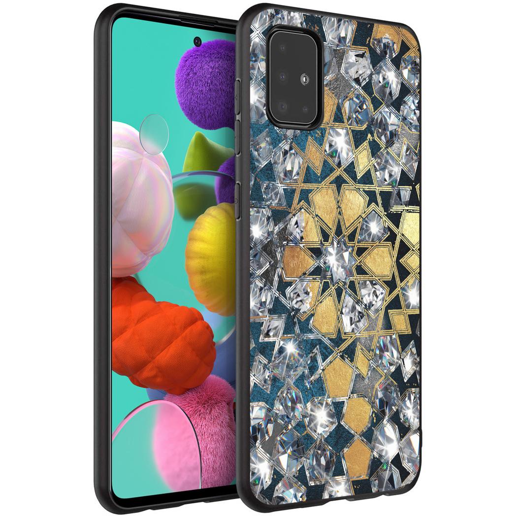 iMoshion Design hoesje Samsung Galaxy A51 - Grafisch - Goud Bling