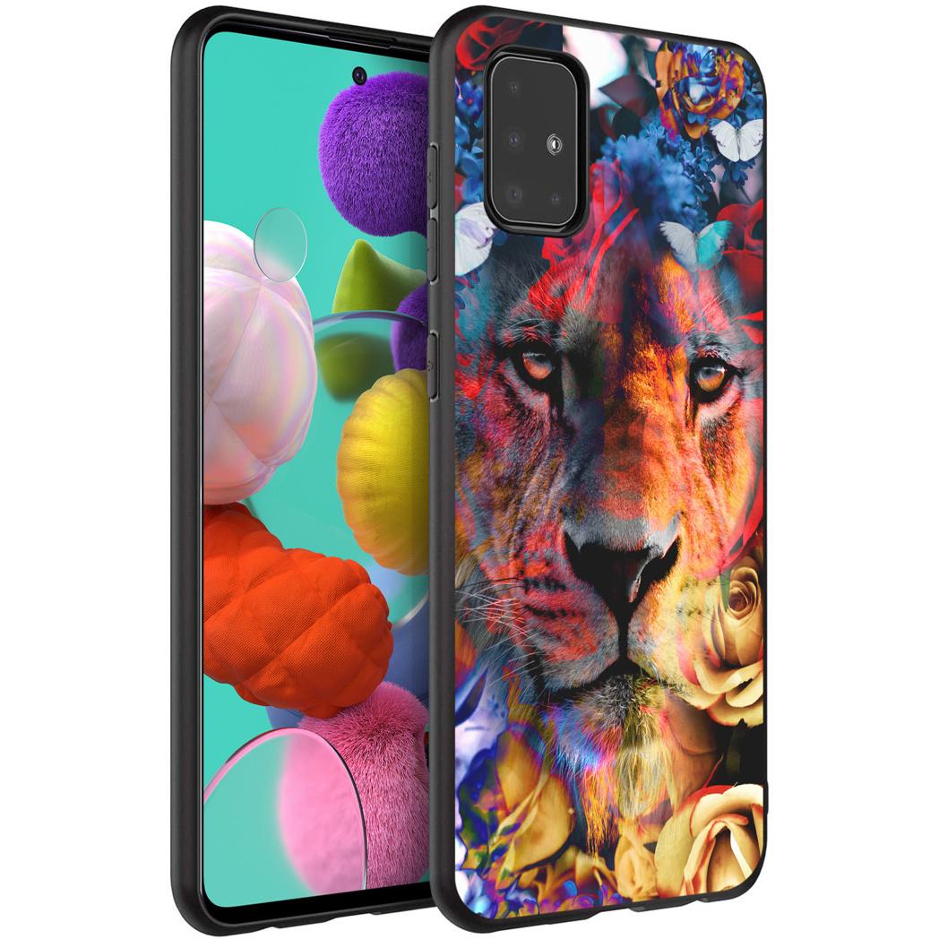 iMoshion Design hoesje Samsung Galaxy A51 - Jungle - Leeuw