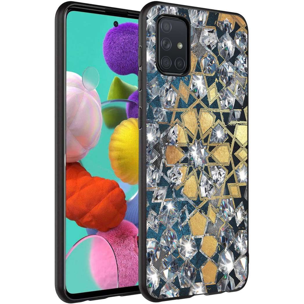 iMoshion Design hoesje Samsung Galaxy A71 - Grafisch - Goud Bling