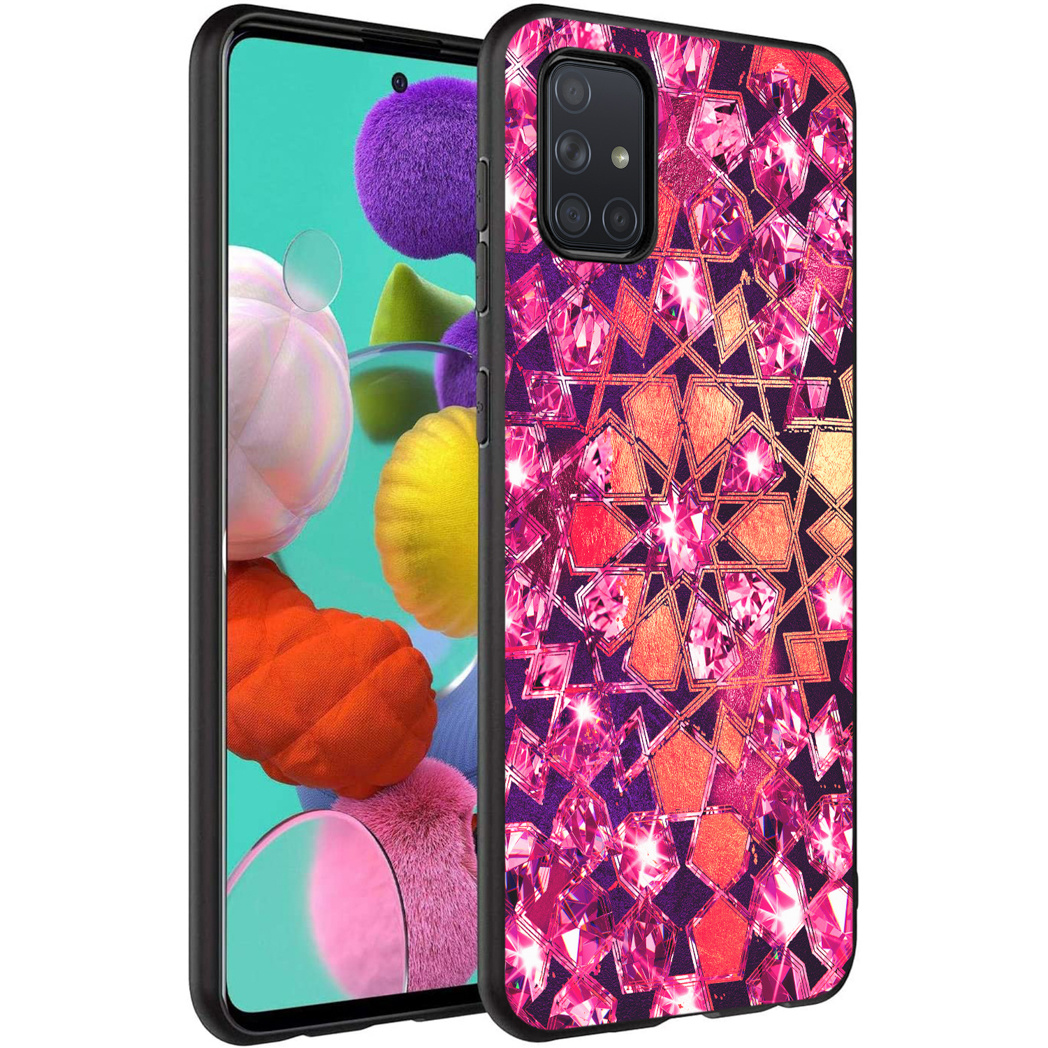 iMoshion Design hoesje Samsung Galaxy A71 - Grafisch - Roze Bling