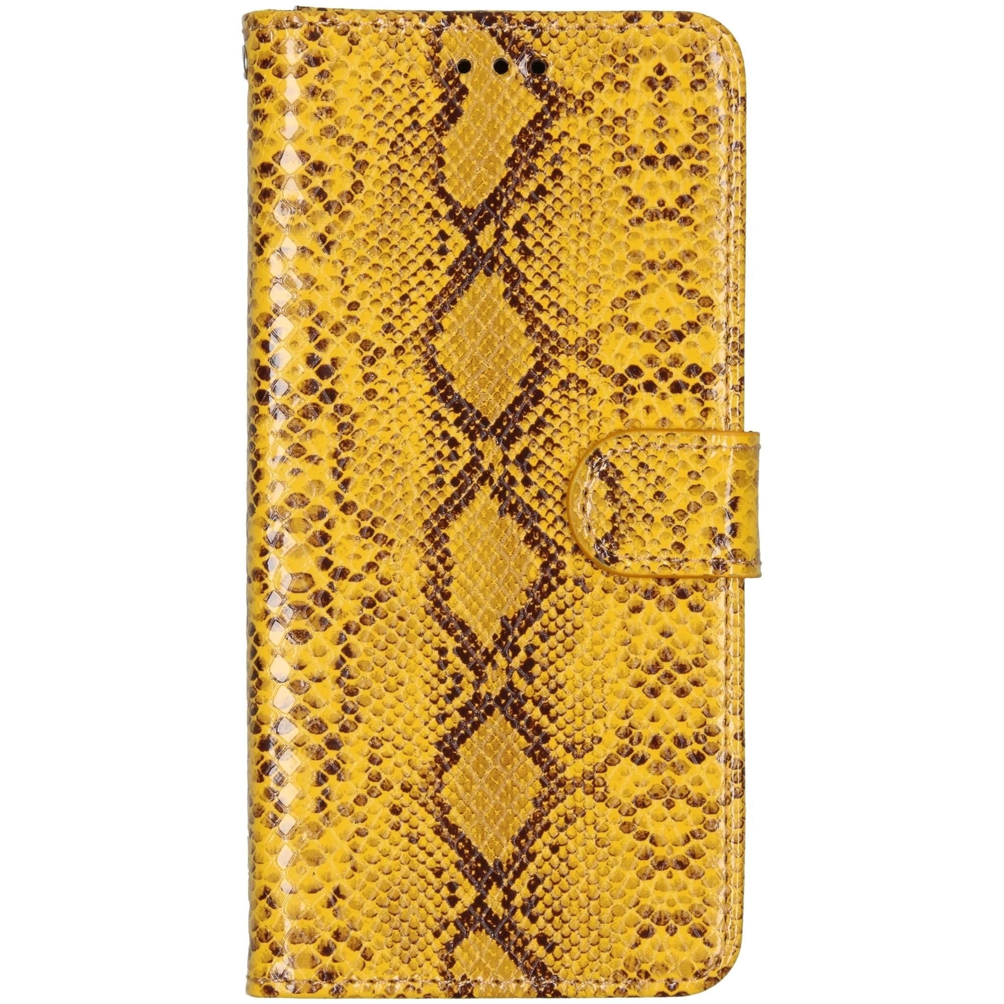 Slangenprint Booktype Samsung Galaxy A51 - Geel