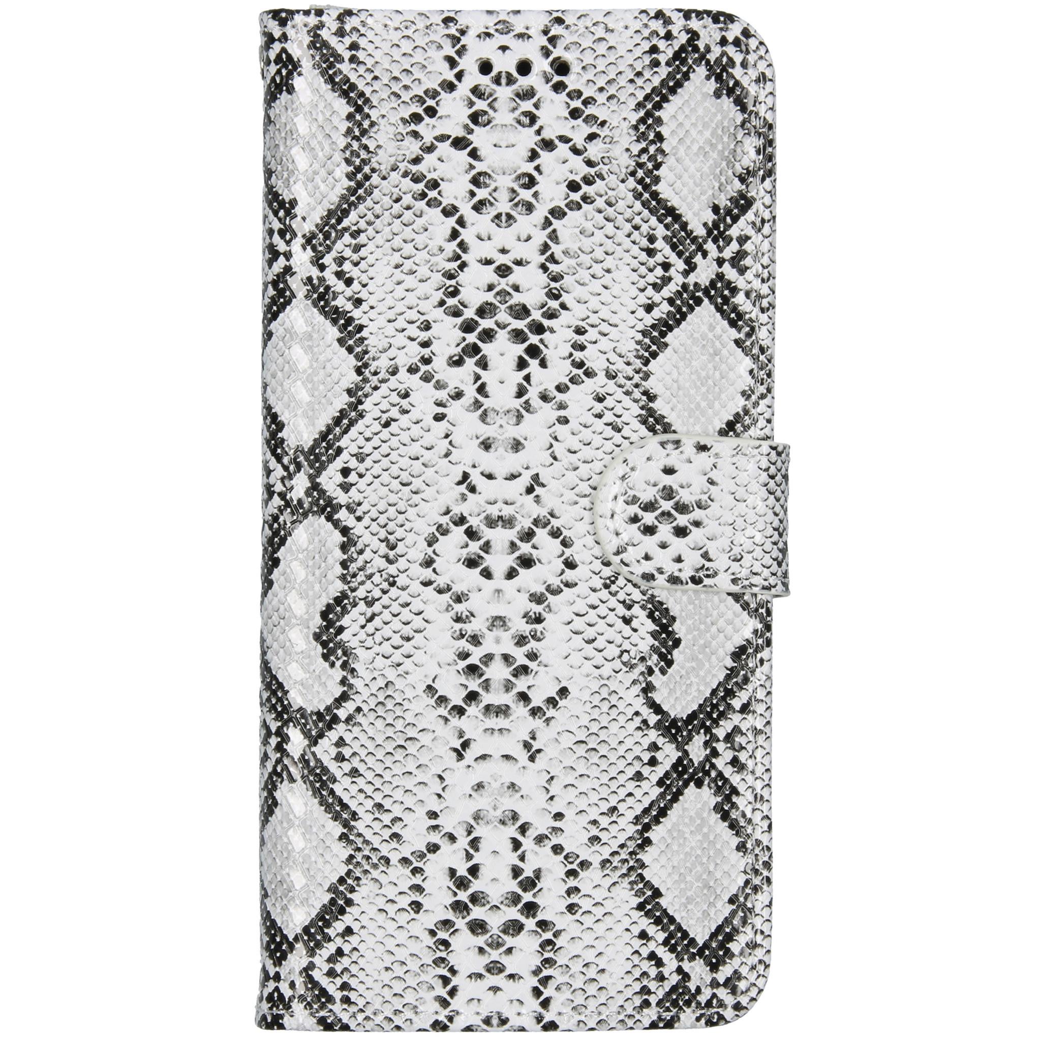 Slangenprint Booktype Samsung Galaxy A51 - Wit
