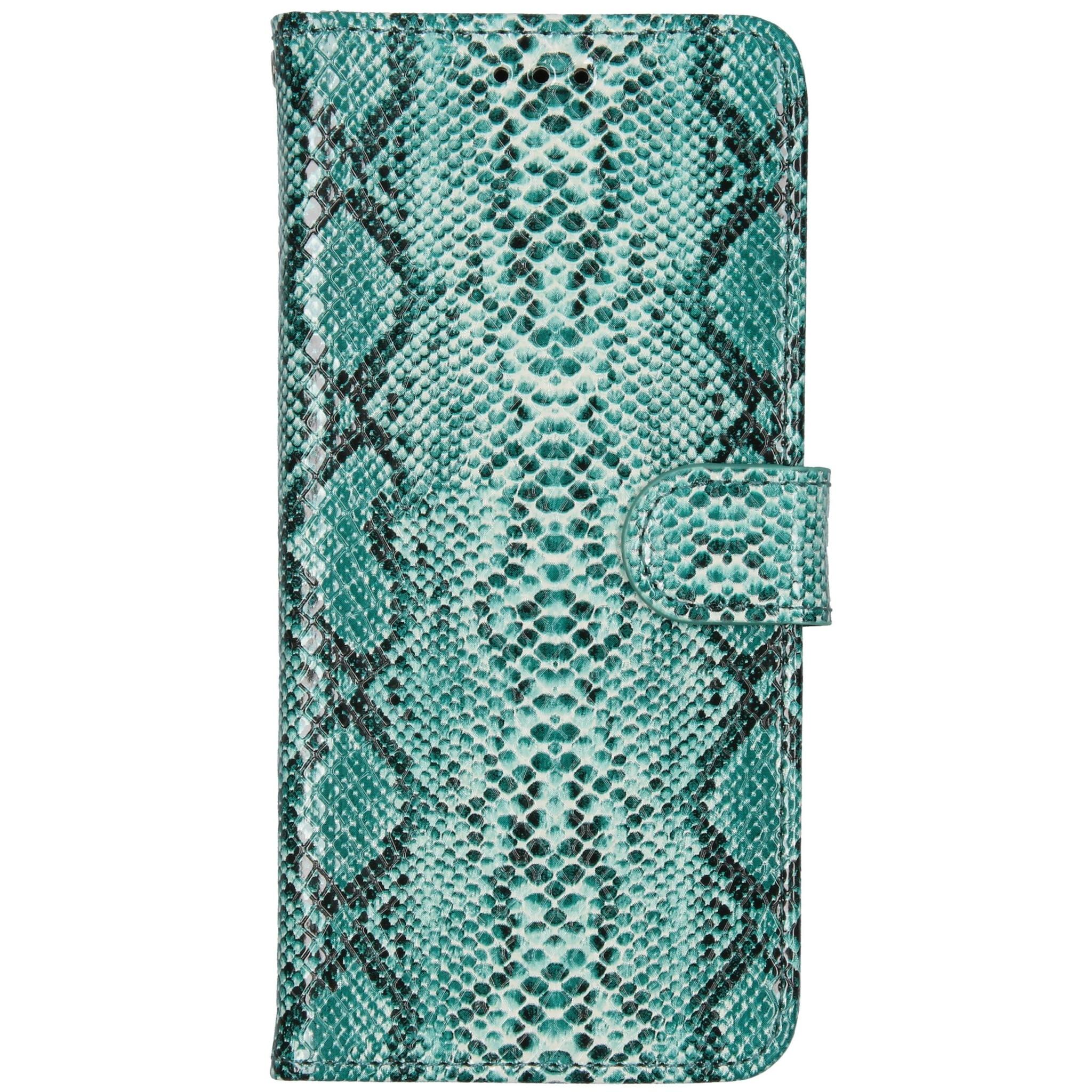 Slangenprint Booktype Samsung Galaxy A51 - Groen