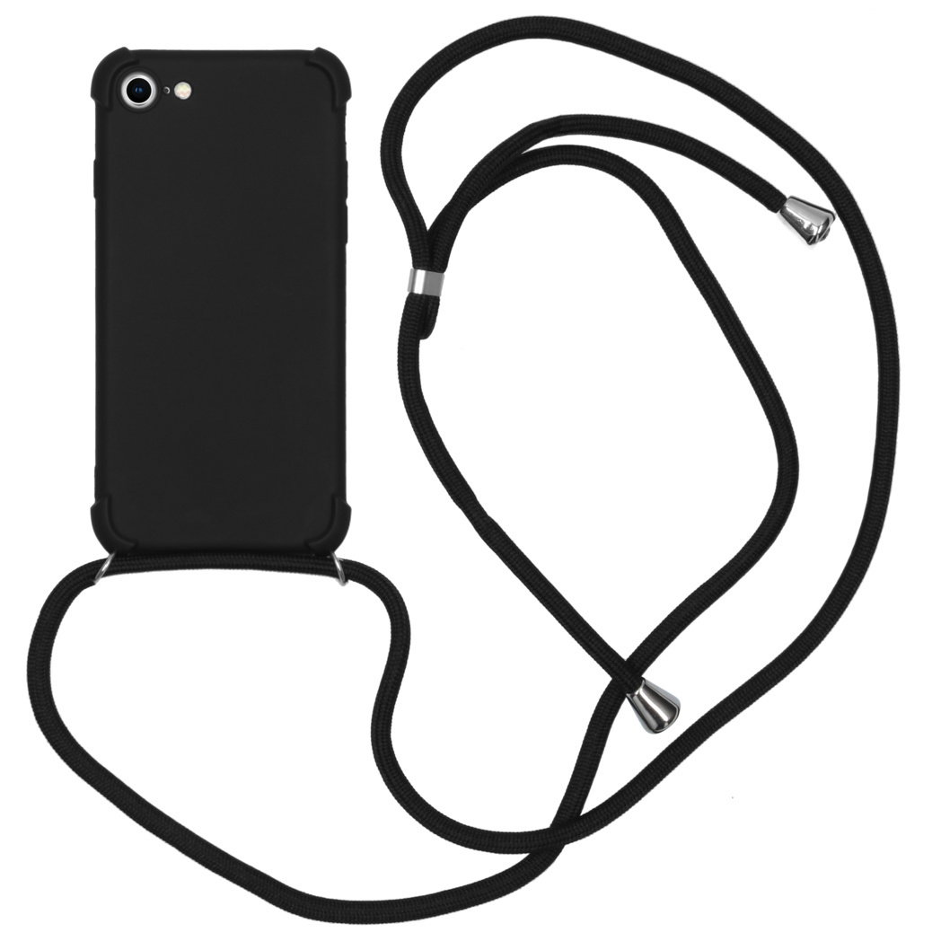iMoshion Color Backcover met koord iPhone SE (2020) / 8 / 7 - Zwart