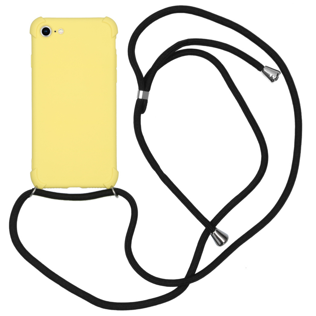 iMoshion Color Backcover met koord iPhone SE (2020) / 8 / 7 - Geel