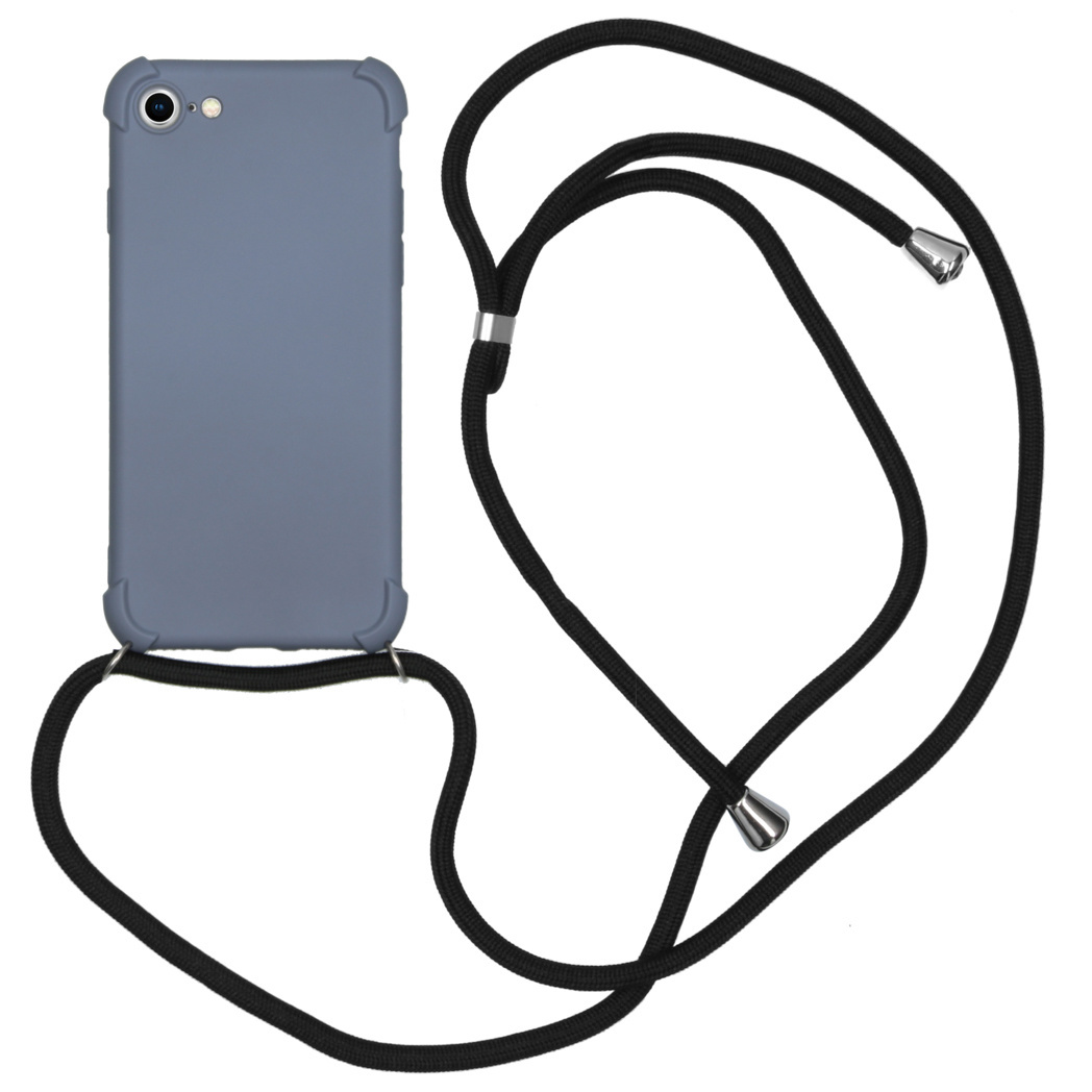iMoshion Color Backcover met koord iPhone SE (2020) / 8 / 7 - Grijs