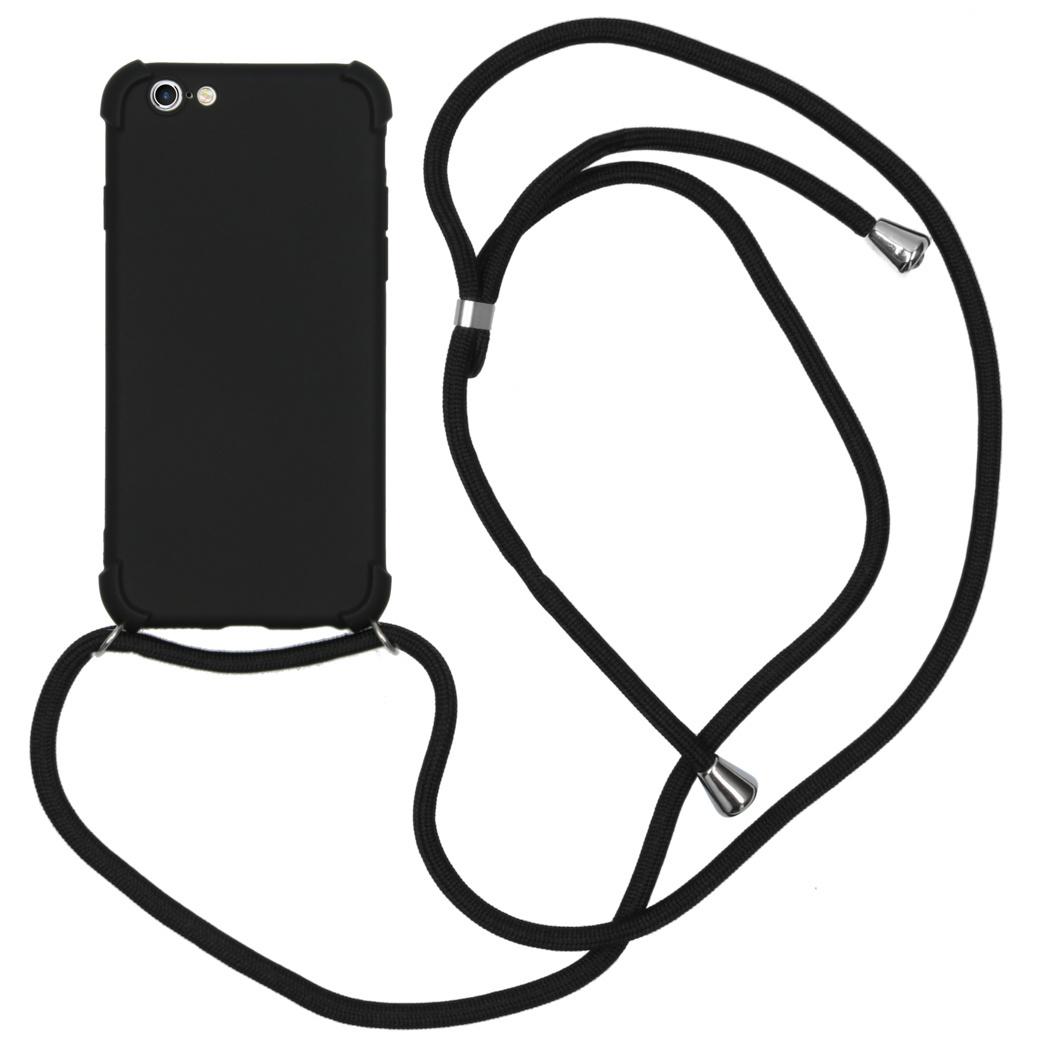 iMoshion Color Backcover met koord iPhone 6 / 6s - Zwart