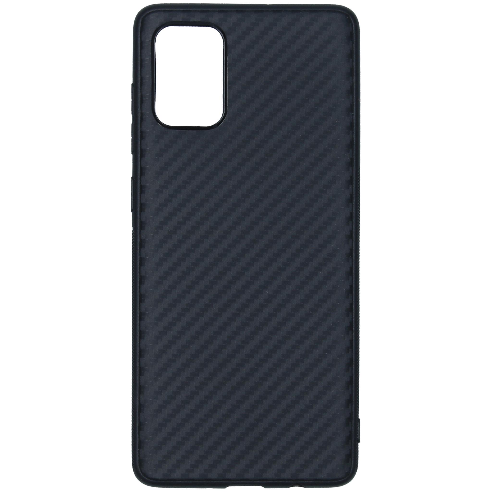 Carbon Softcase Backcover Samsung Galaxy A71 - Zwart