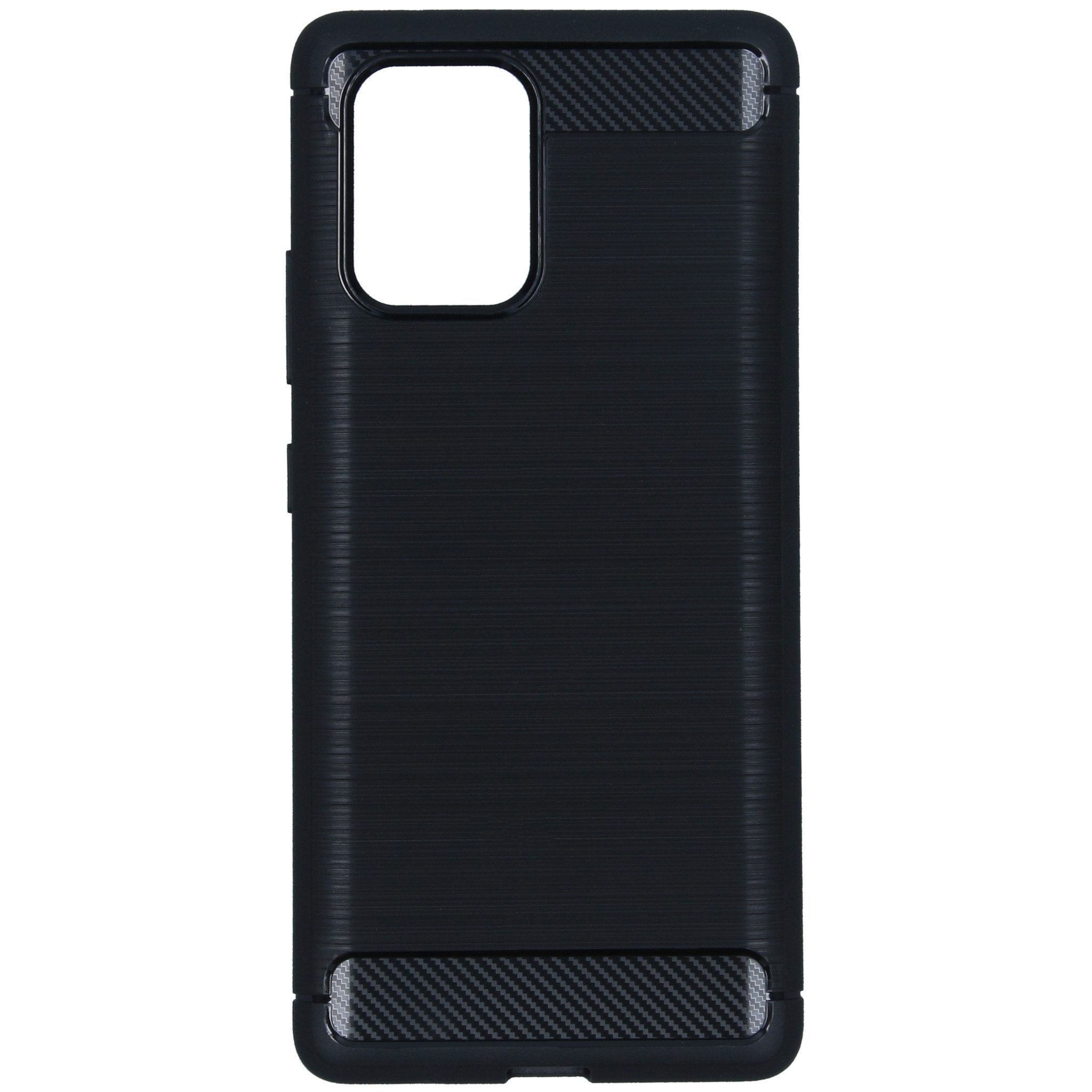 Brushed Backcover Samsung Galaxy S10 Lite - Zwart