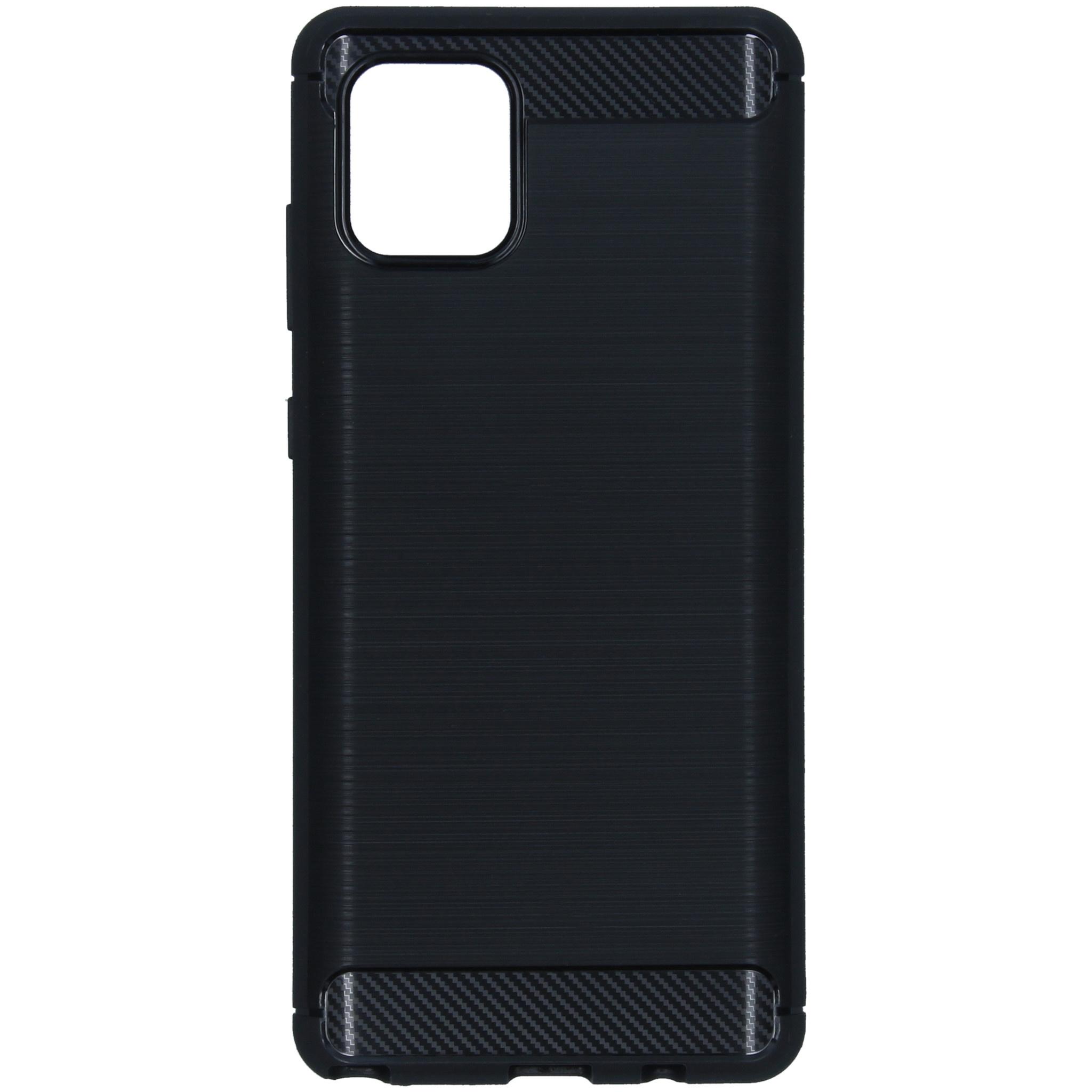 Brushed Backcover Samsung Galaxy Note 10 Lite - Zwart