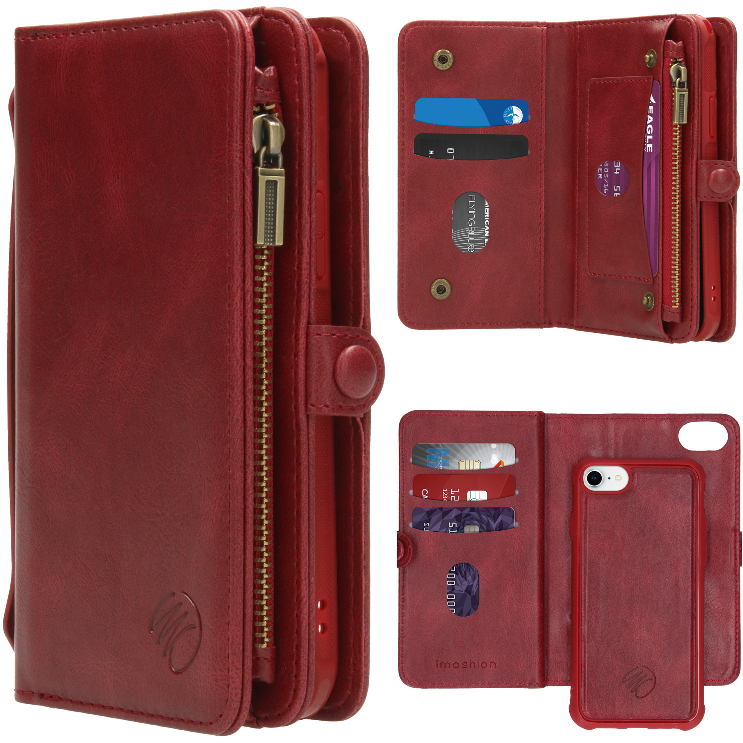 iMoshion 2-in-1 Booktype iPhone SE (2020) / 8 / 7 / 6(s) - Rood
