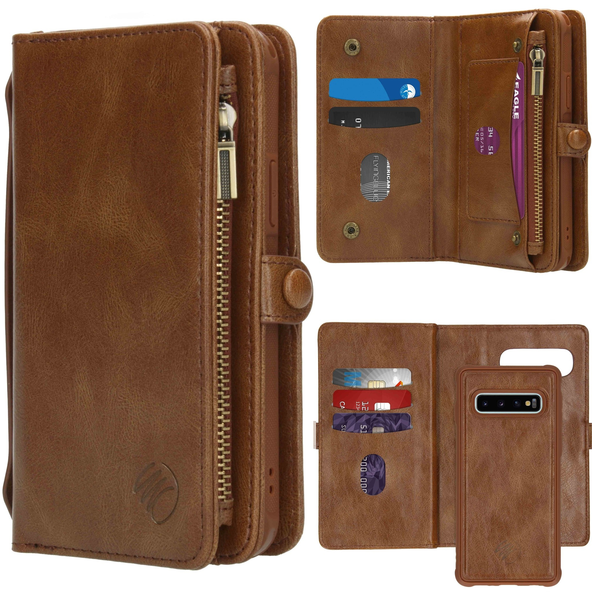 iMoshion 2-in-1 Wallet Booktype Samsung Galaxy S10 - Bruin