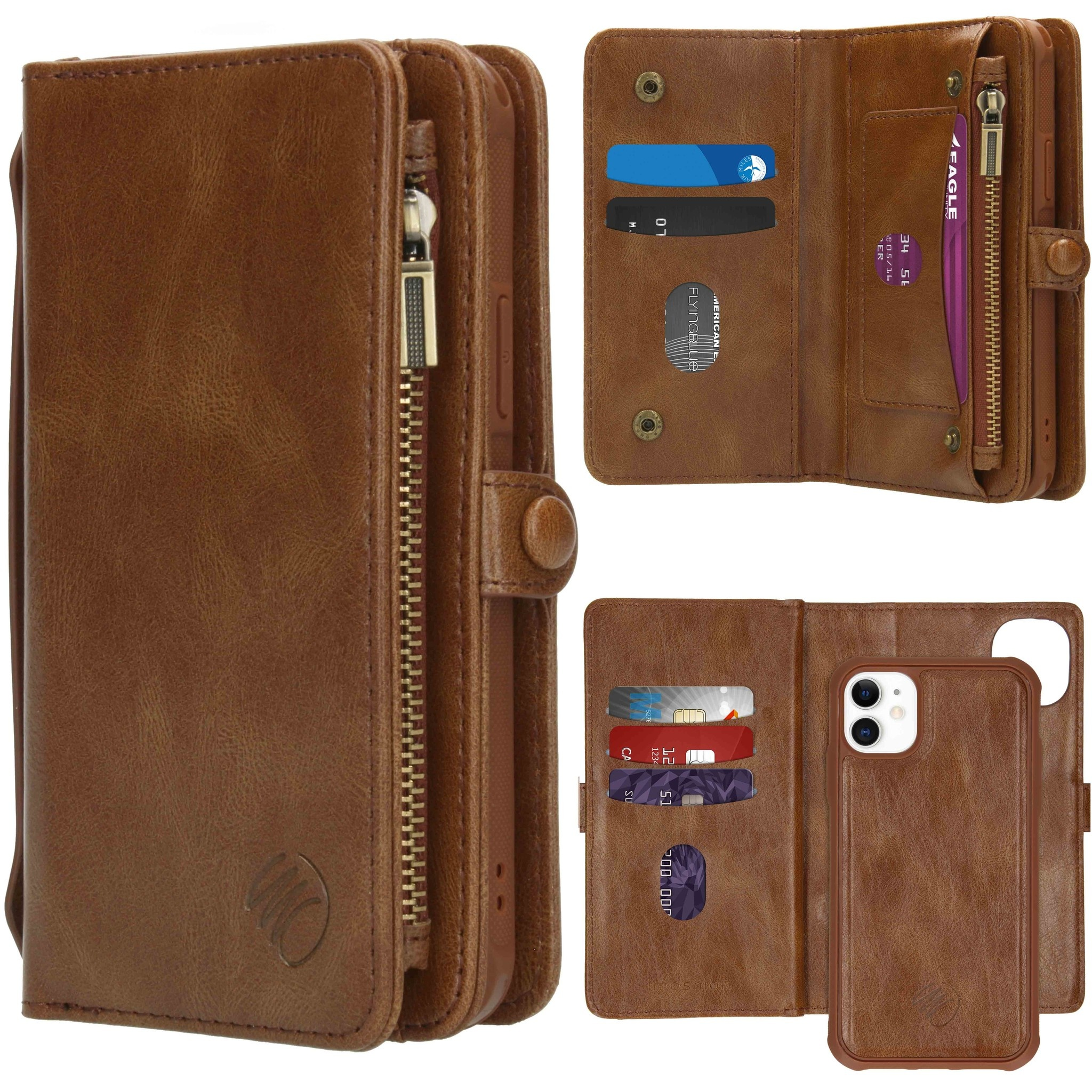 iMoshion 2-in-1 Wallet Booktype iPhone 11 - Bruin