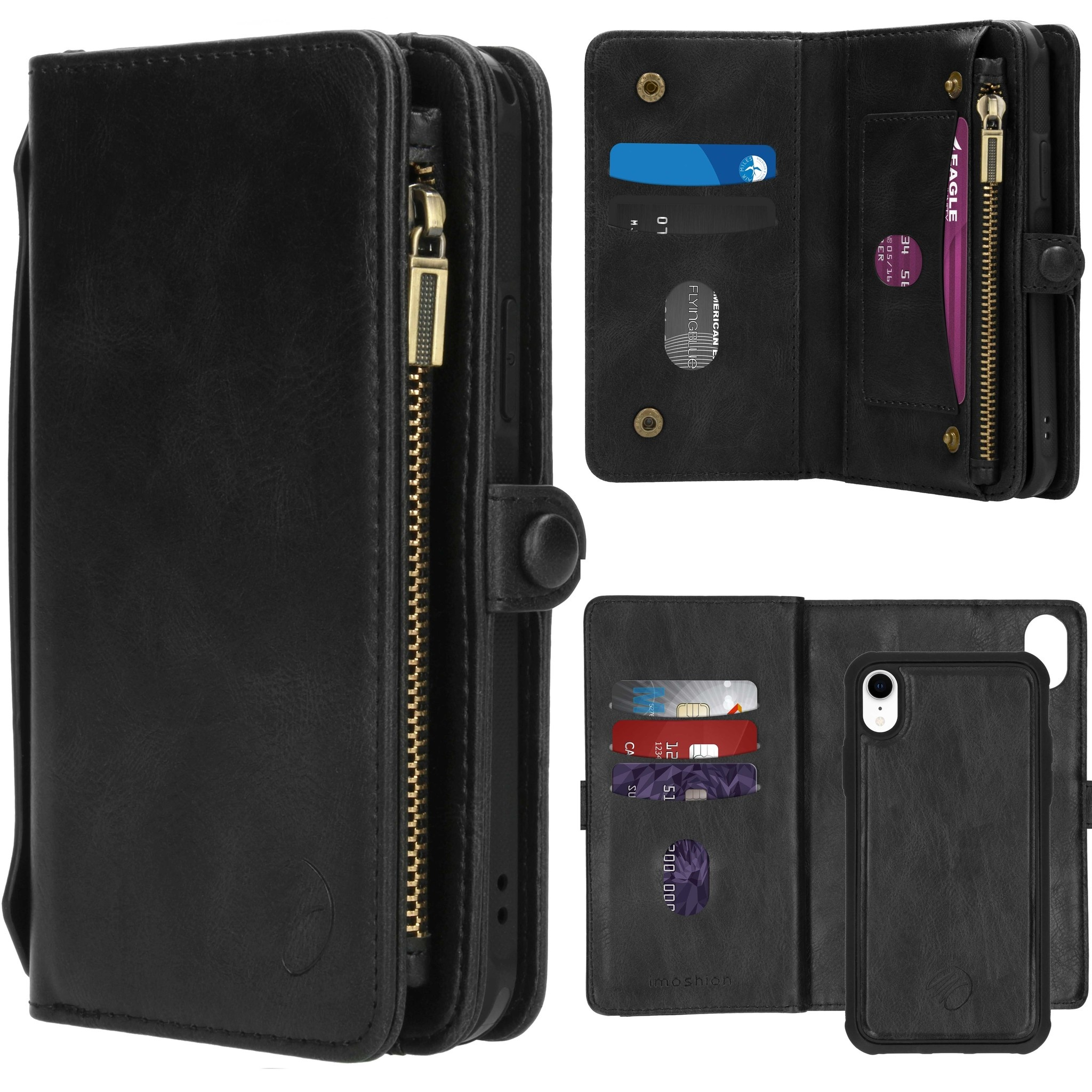 iMoshion 2-in-1 Wallet Booktype iPhone Xr - Zwart