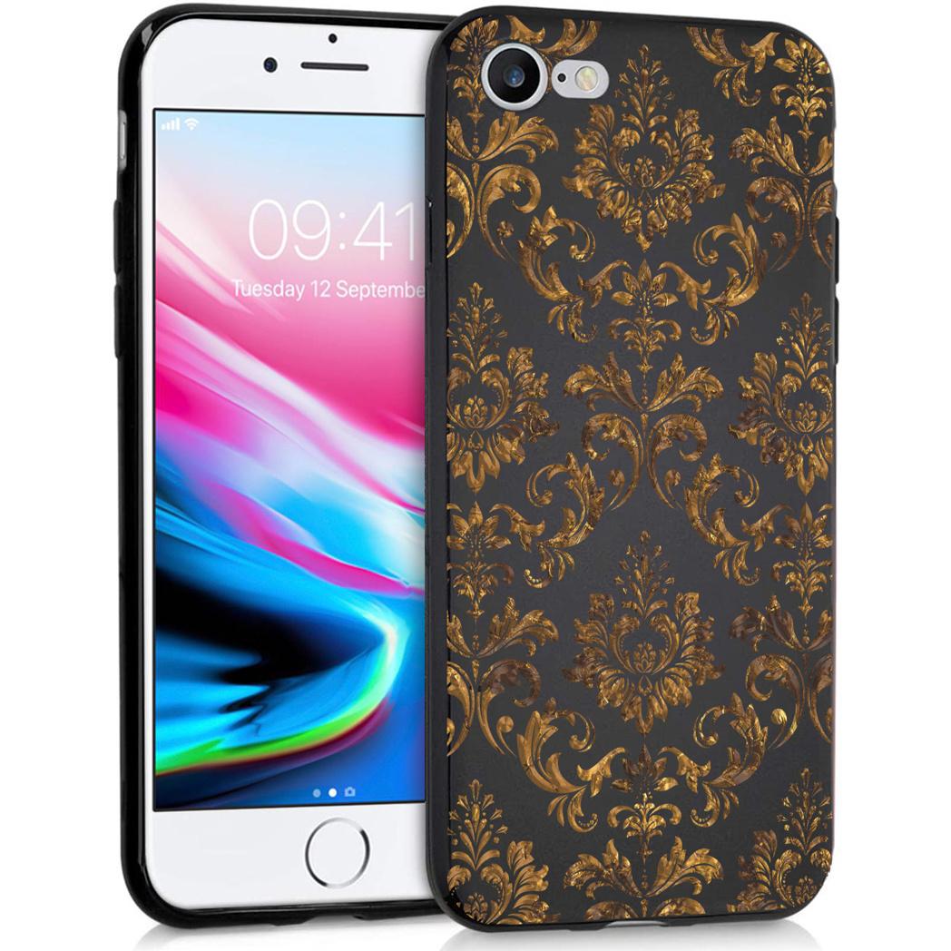 iMoshion Design hoesje iPhone SE (2020) / 8 / 7 - Grafisch -Luxe Goud