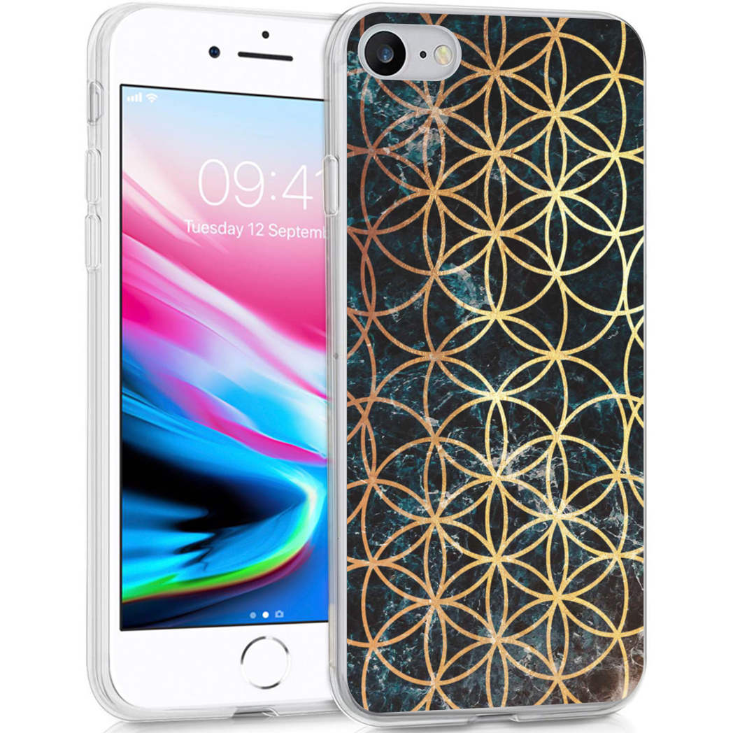 iMoshion Design hoesje iPhone SE (2020) / 8 / 7 / 6s - Ring - Zwart