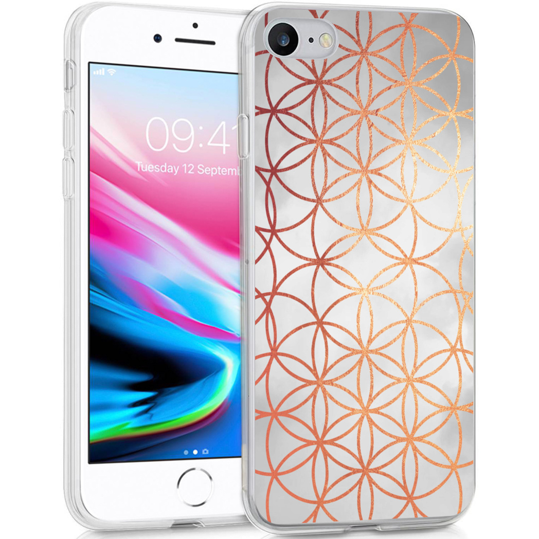 iMoshion Design hoesje iPhone SE (2020) / 8 / 7 / 6s - Ring - Zilver