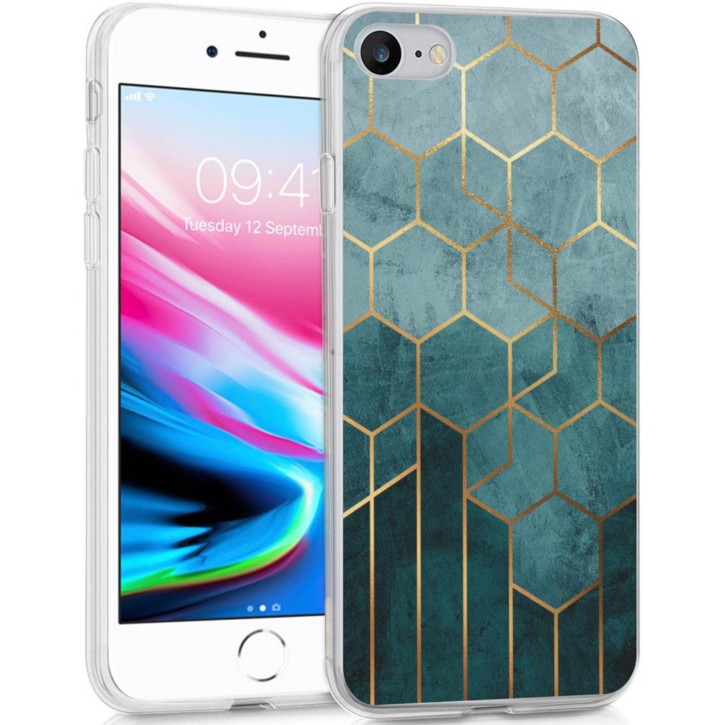 iMoshion Design hoesje iPhone SE (2020) / 8 / 7 / 6s - Patroon -Groen