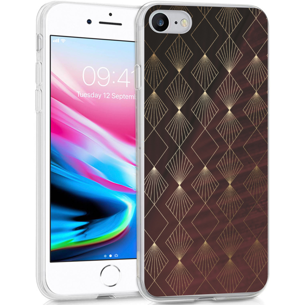 iMoshion Design hoesje iPhone SE (2020) / 8 / 7 / 6s - Patroon - Rood