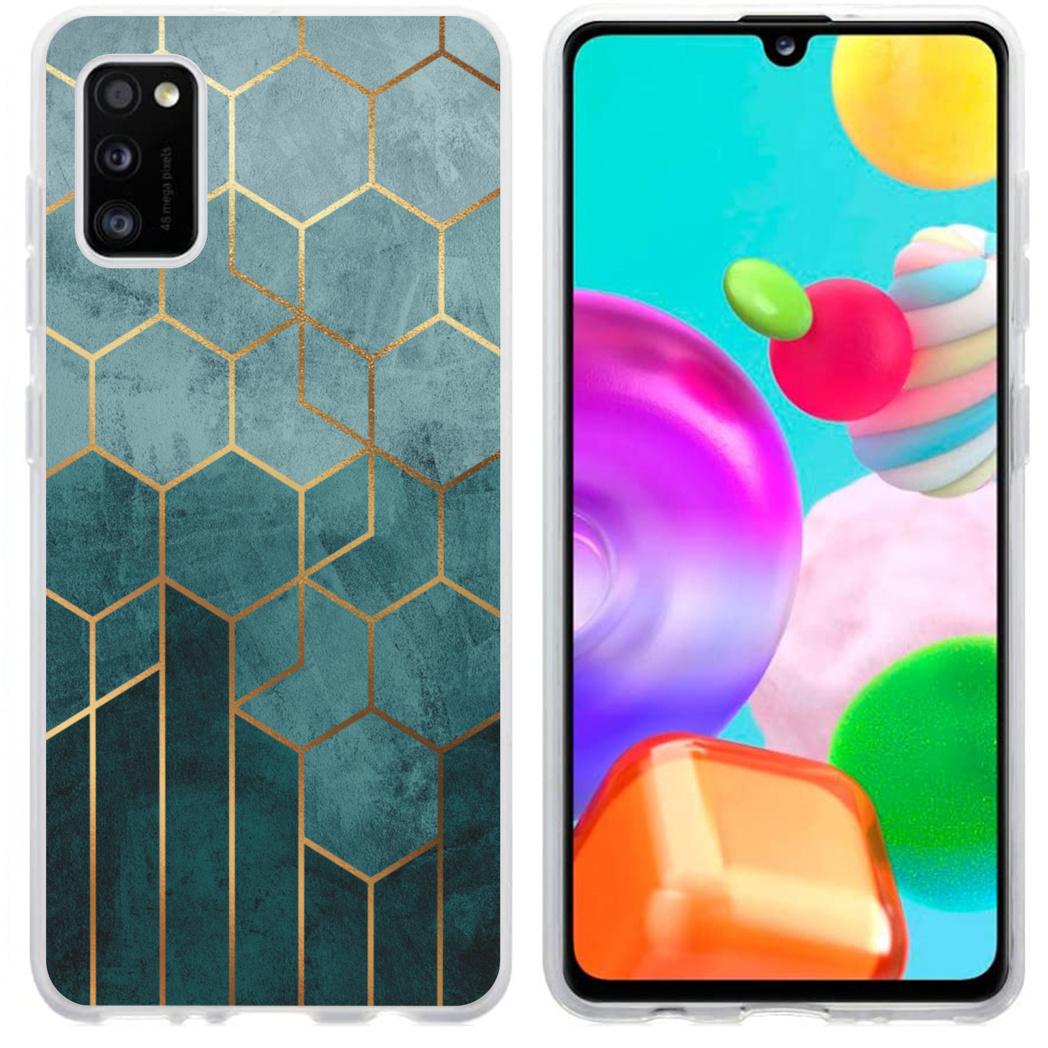iMoshion Design hoesje Samsung Galaxy A41 - Patroon - Groen