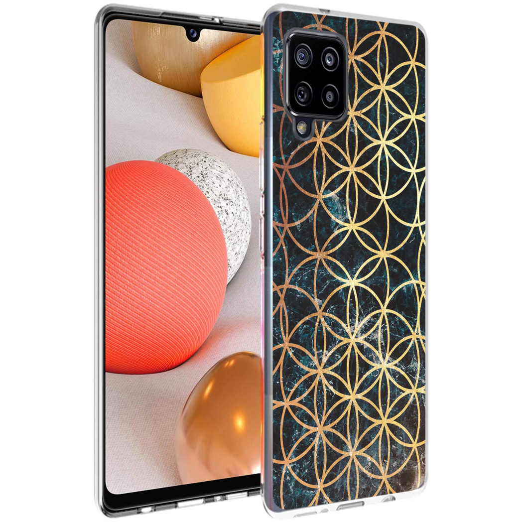 iMoshion Design hoesje Samsung Galaxy A42 - Ring - Zwart / Goud