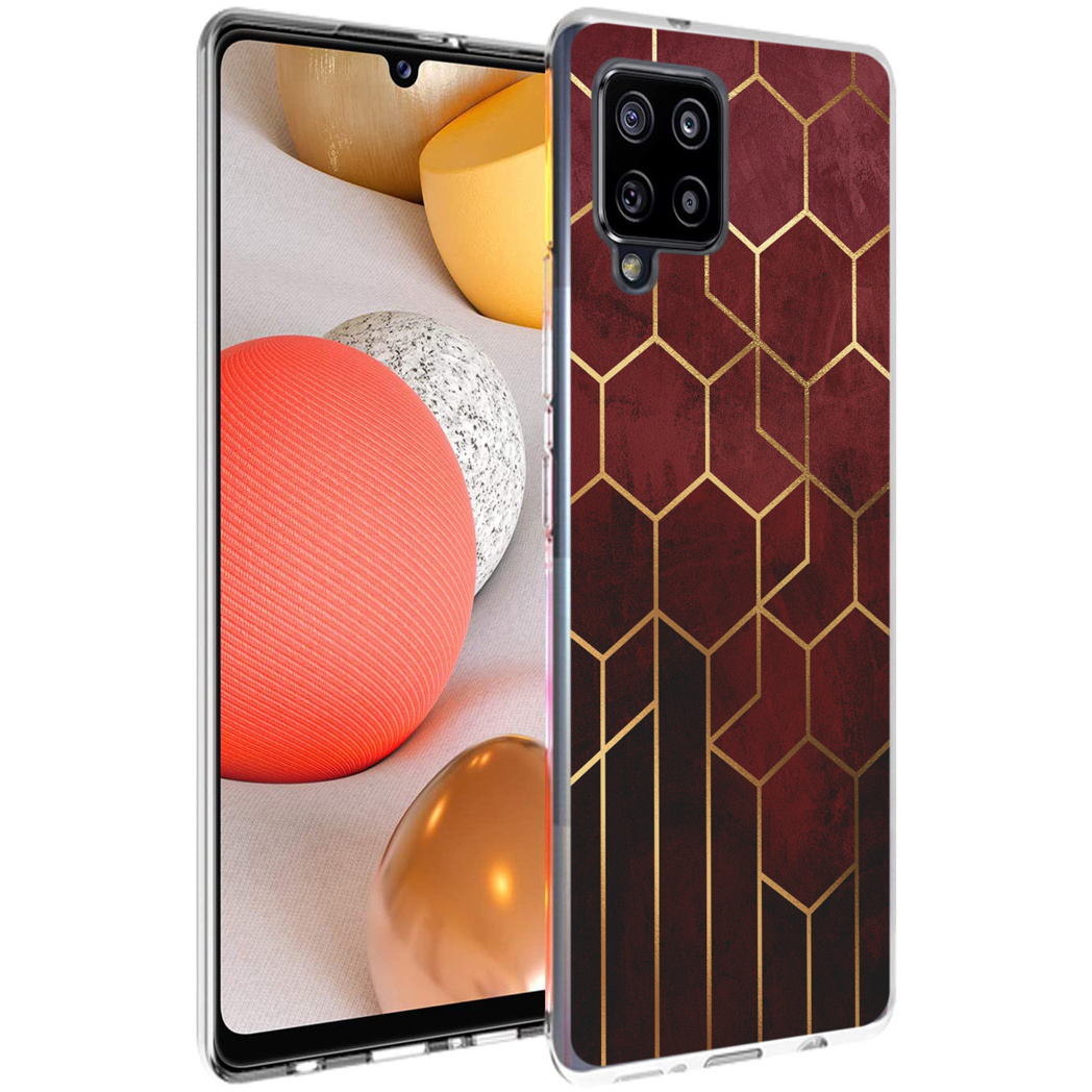 iMoshion Design hoesje Samsung Galaxy A42 - Patroon - Rood