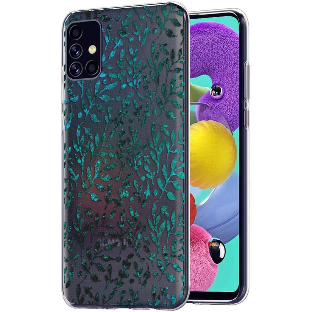 iMoshion Design hoesje Samsung Galaxy A51 - Bladeren - Groen