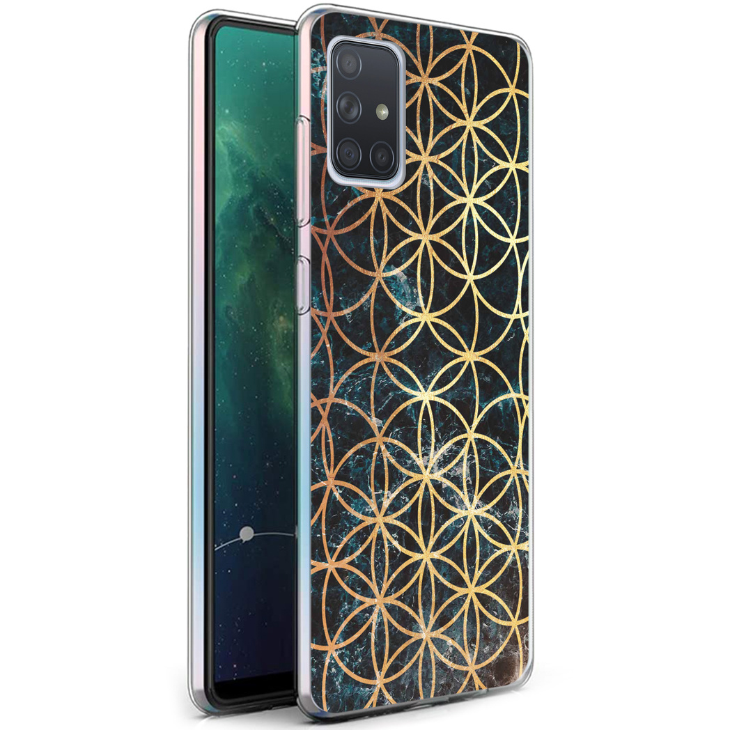 iMoshion Design hoesje Samsung Galaxy A71 - Ring - Zwart / Goud