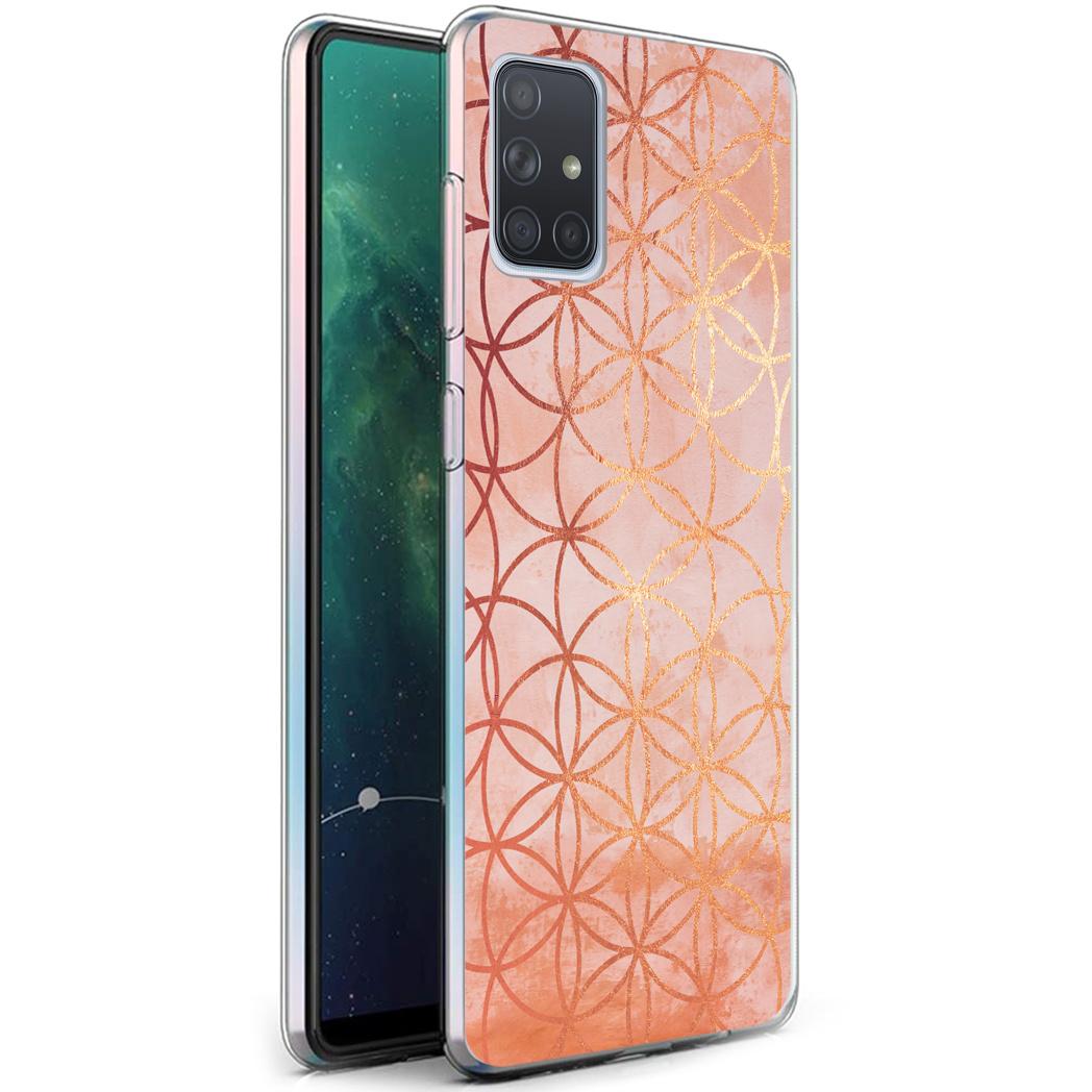 iMoshion Design hoesje Samsung Galaxy A71 - Ring - Roze / Goud
