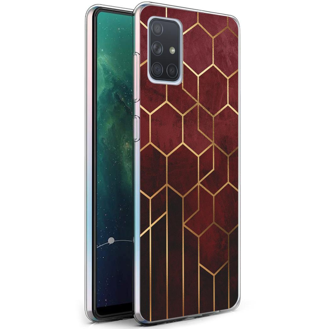 iMoshion Design hoesje Samsung Galaxy A71 - Patroon - Rood