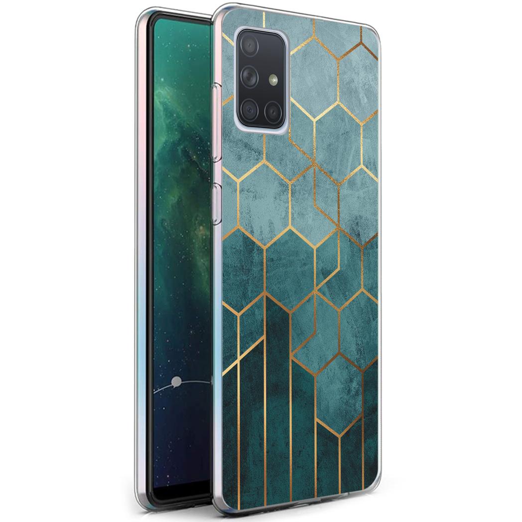 iMoshion Design hoesje Samsung Galaxy A71 - Patroon - Groen