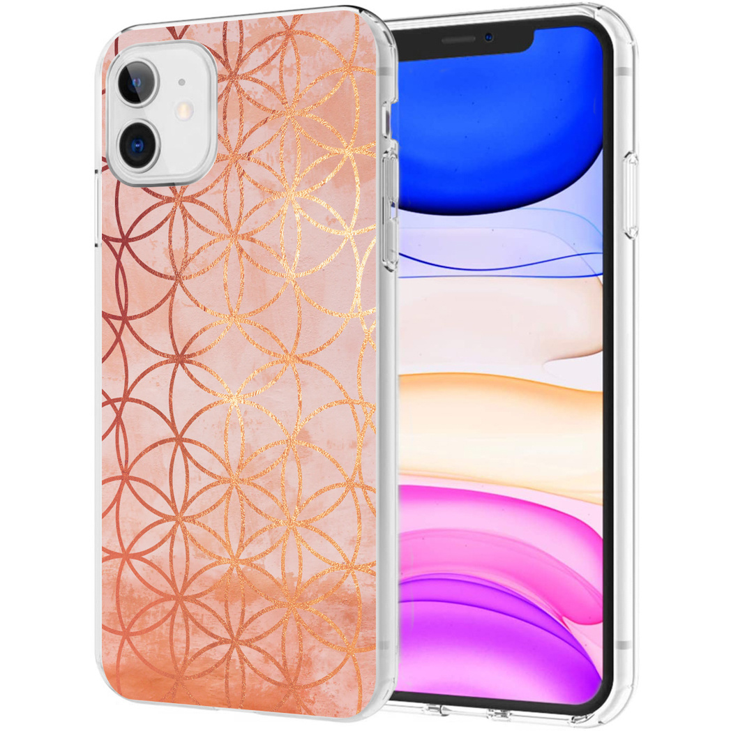 iMoshion Design hoesje iPhone 11 - Ring - Roze / Goud