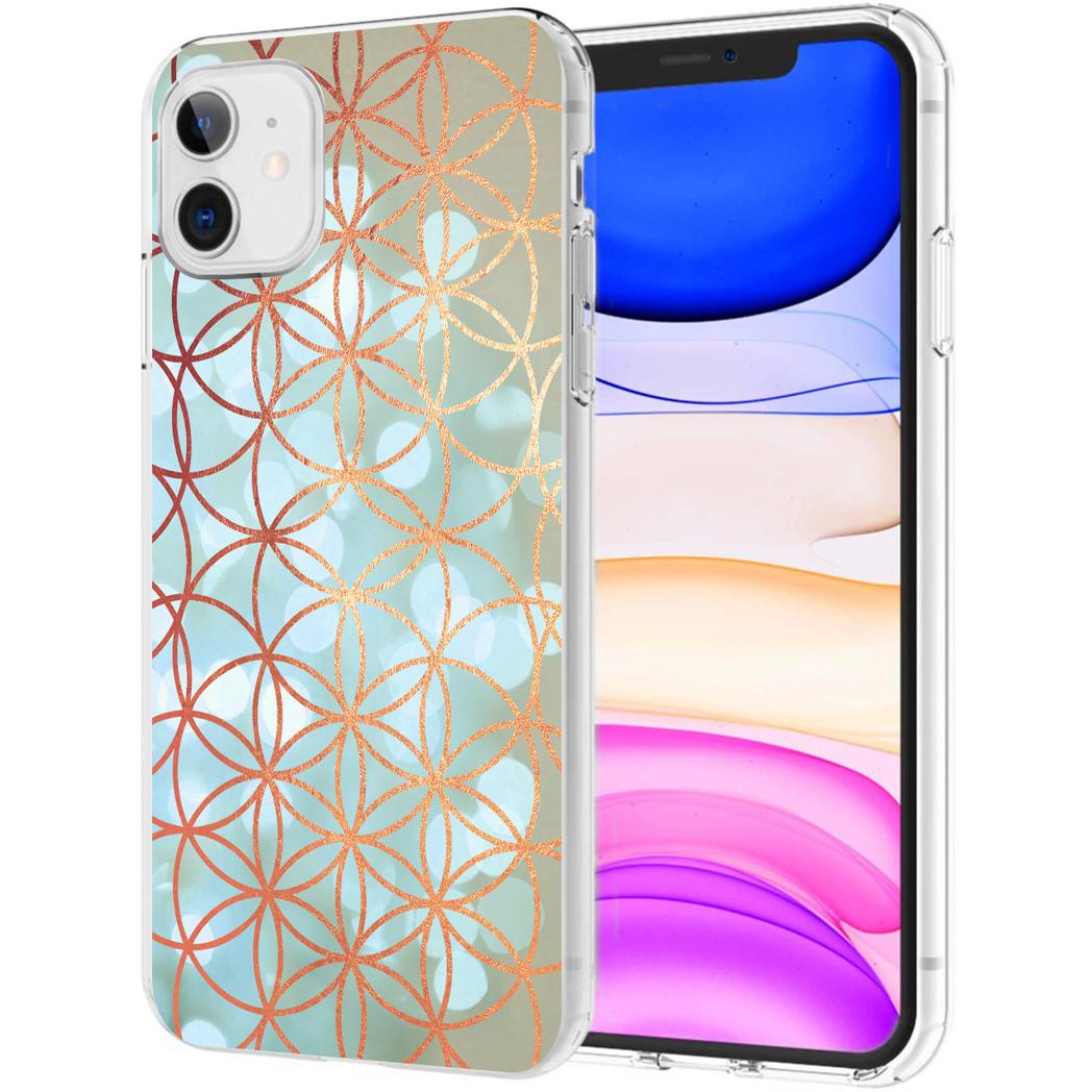 iMoshion Design hoesje iPhone 11 - Ring - Blauw / Goud