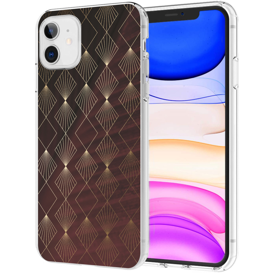 iMoshion Design hoesje iPhone 11 - Patroon - Rood / Goud