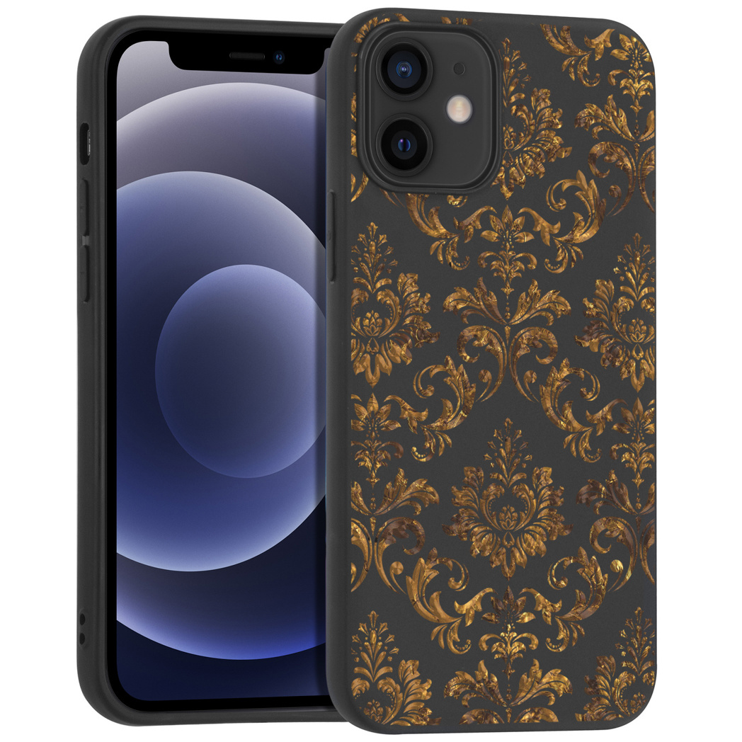 iMoshion Design hoesje iPhone 12 Mini - Grafisch - Luxe Goud