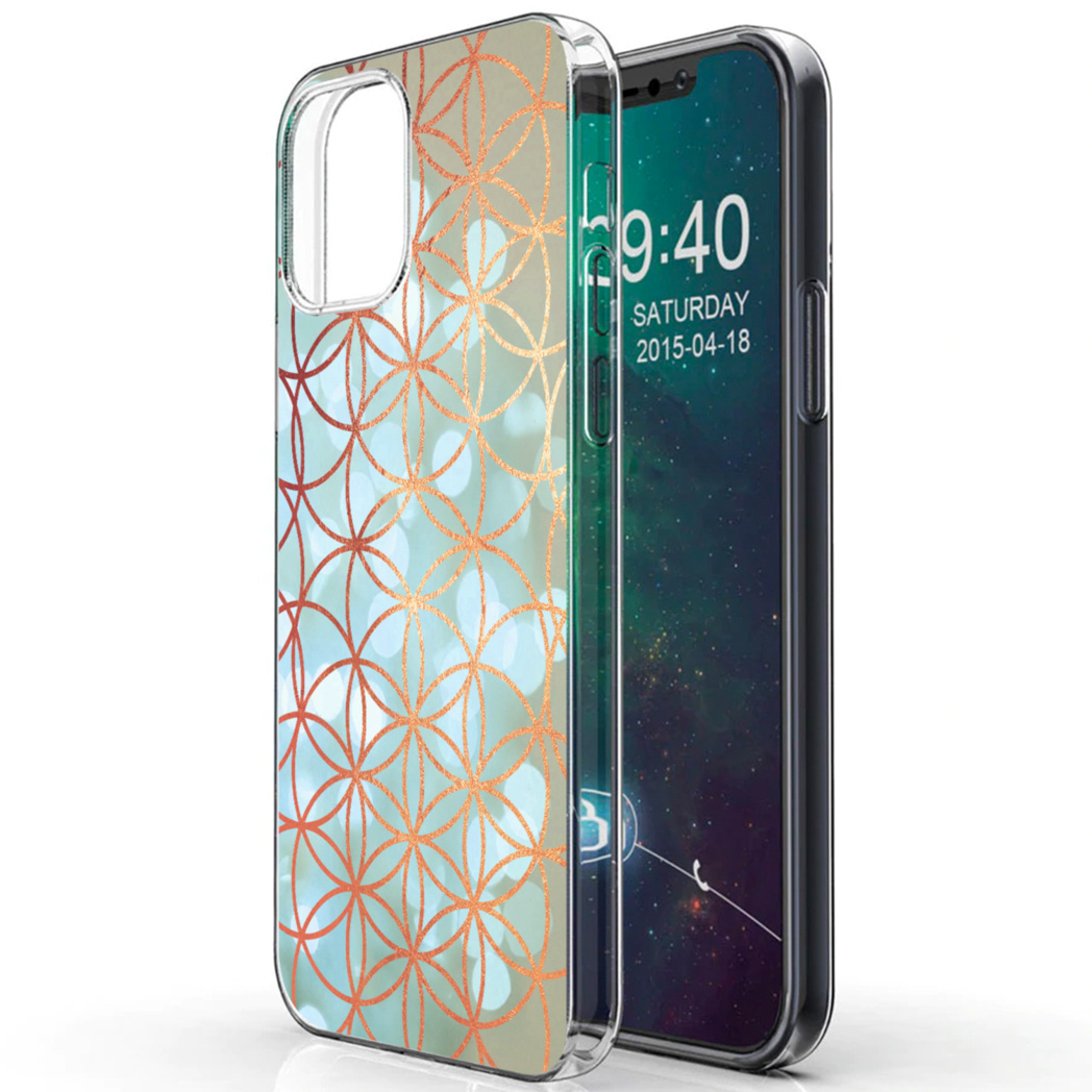 iMoshion Design hoesje iPhone 12 Mini - Ring - Blauw / Goud