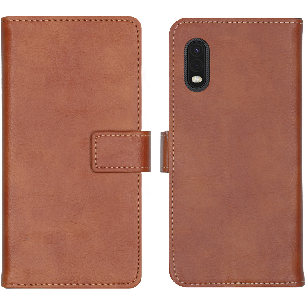 iMoshion Luxe Booktype Samsung Galaxy Xcover Pro - Bruin