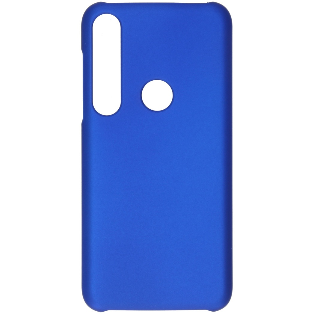 Effen Backcover Motorola Moto G8 Plus - Blauw