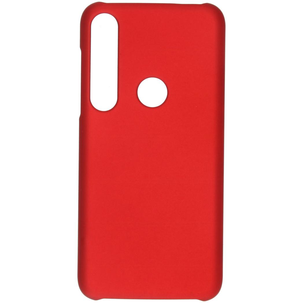 Effen Backcover Motorola Moto G8 Plus - Rood