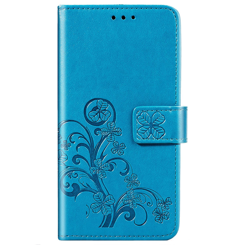 Klavertje Bloemen Booktype OnePlus 8 - Turquoise