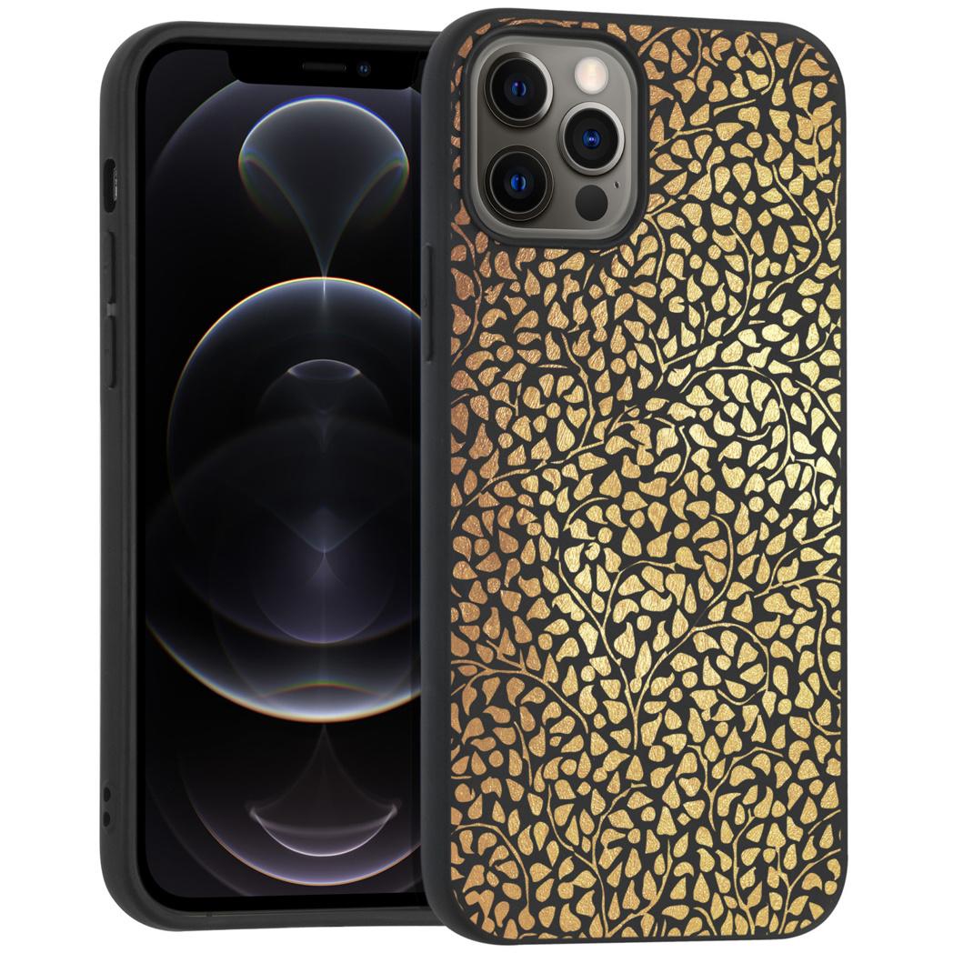 iMoshion Design hoesje iPhone 12 (Pro) - Grafisch - Goud