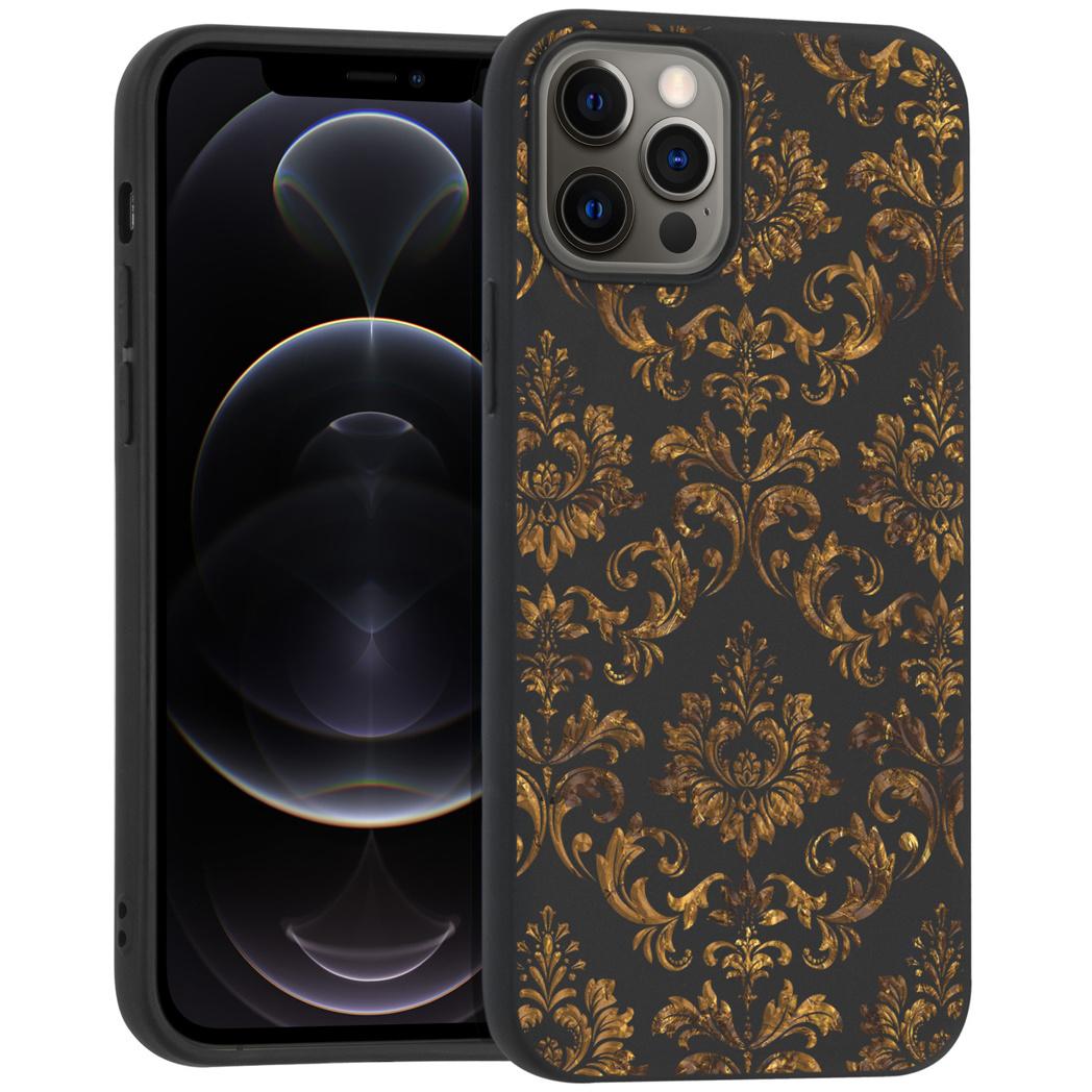 iMoshion Design hoesje iPhone 12 (Pro) - Grafisch - Luxe Goud
