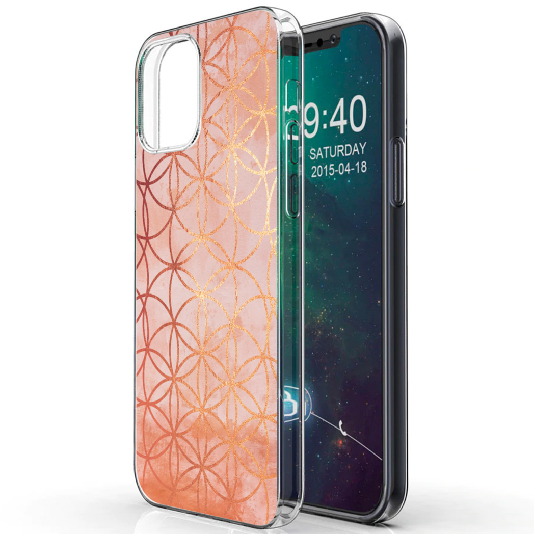 iMoshion Design hoesje iPhone 12 (Pro) - Ring - Roze / Goud