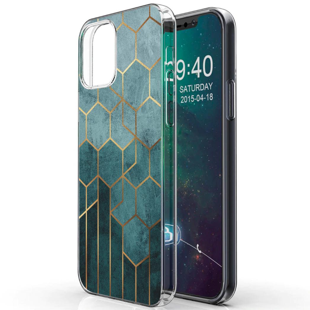 iMoshion Design hoesje iPhone 12 (Pro) - Patroon - Groen