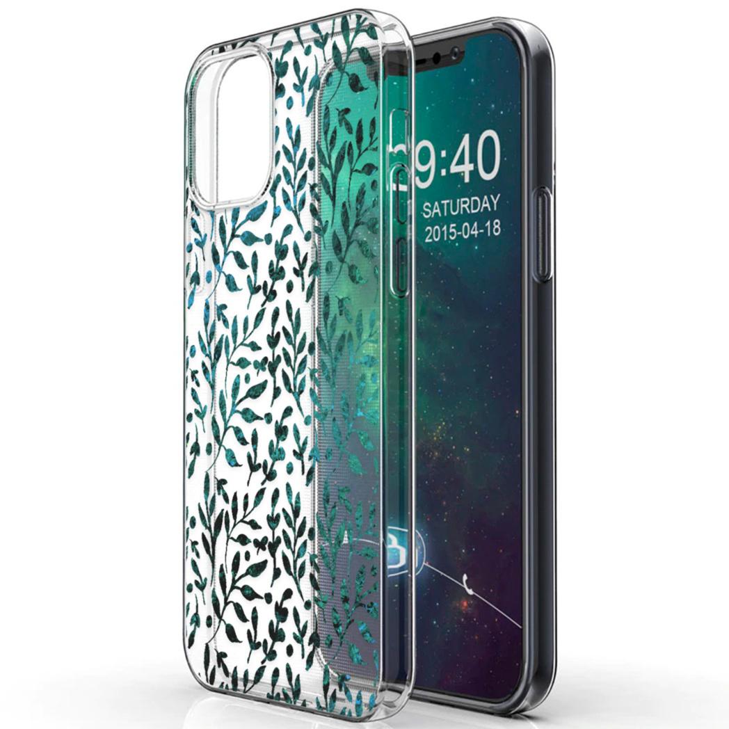 iMoshion Design hoesje iPhone 12 (Pro) - Bladeren - Groen
