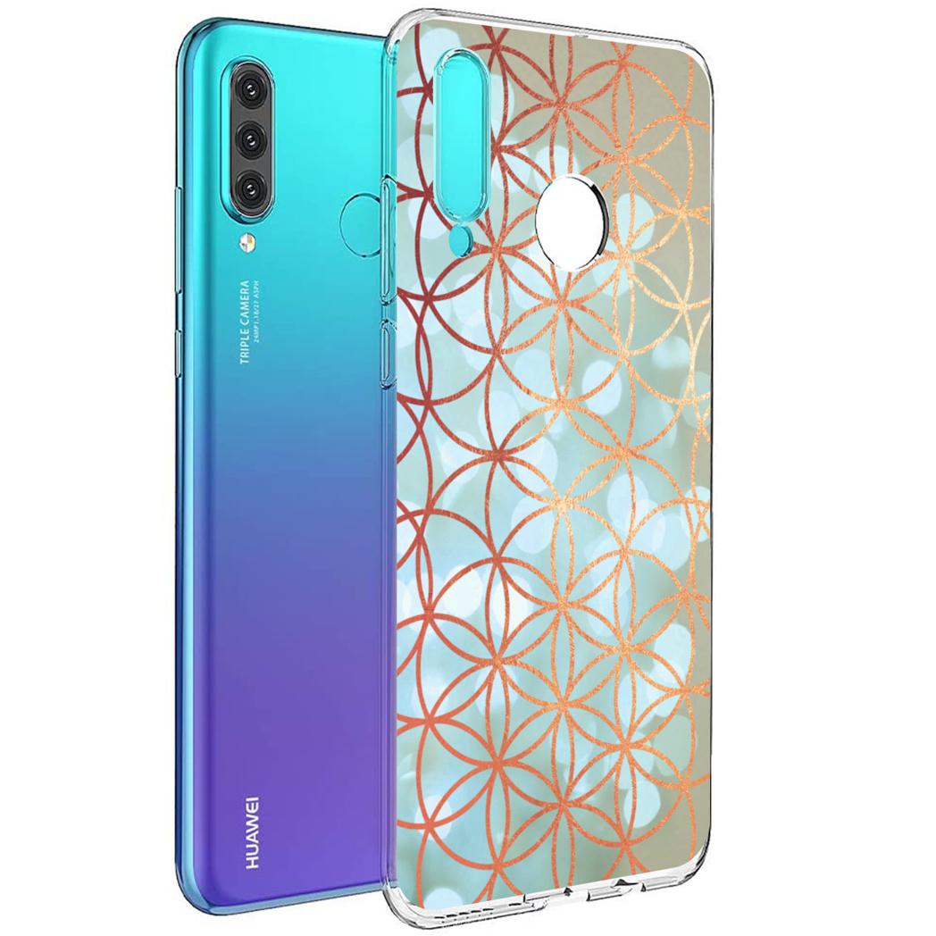 iMoshion Design hoesje Huawei P30 Lite - Ring - Blauw / Goud