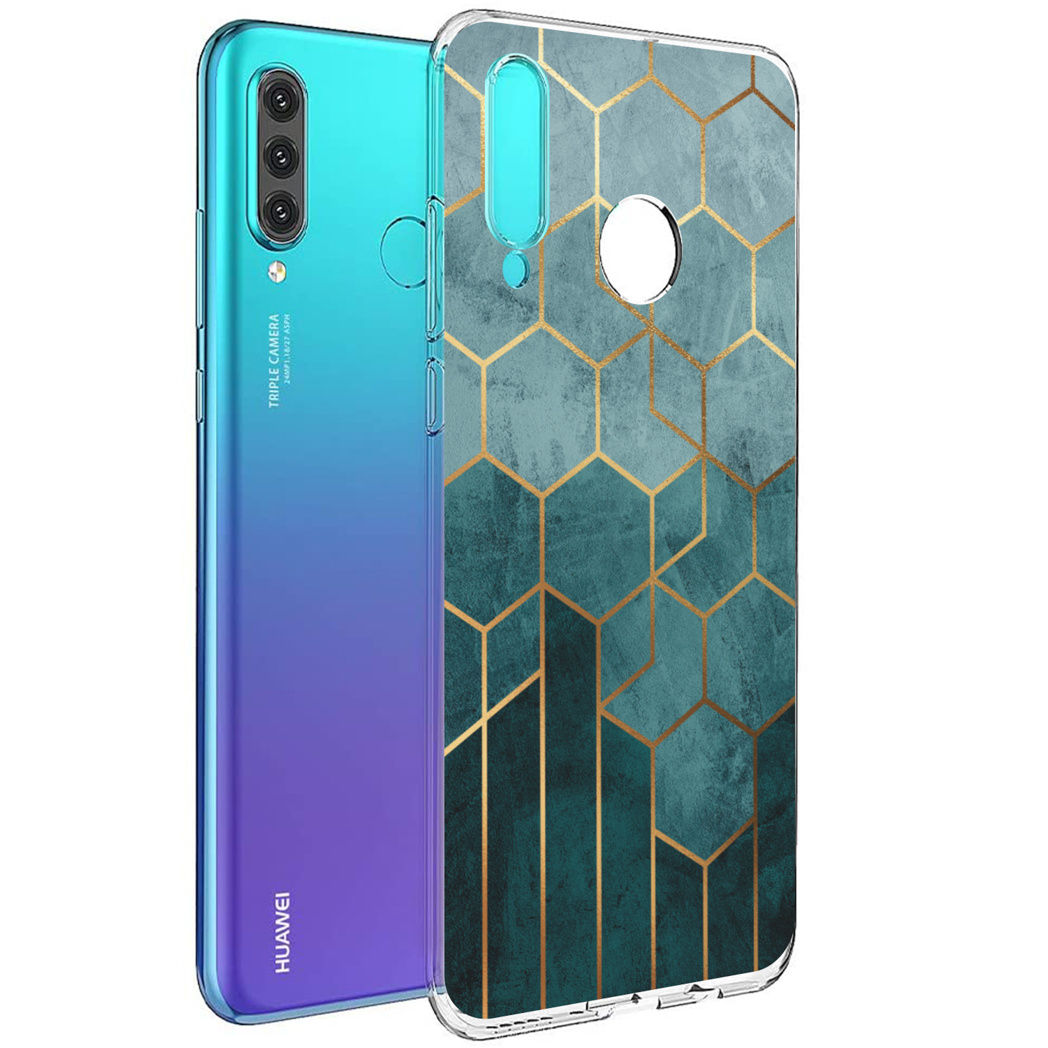 iMoshion Design hoesje Huawei P30 Lite - Patroon - Groen