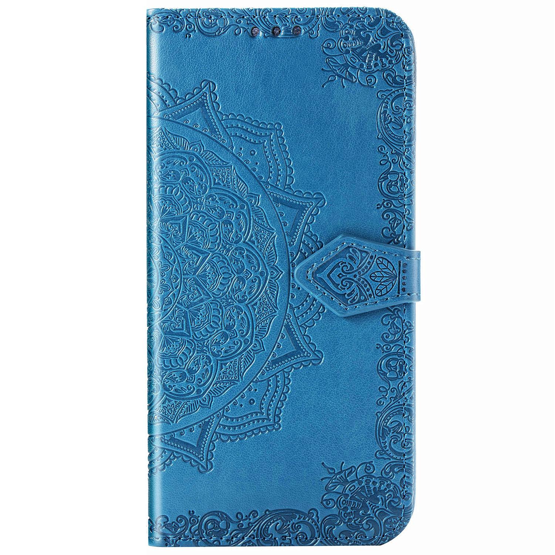 Mandala Booktype Motorola Moto G9 Plus - Turquoise